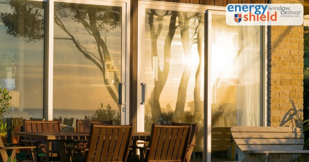 Sun reflecting on a Sliding Glass Door - 5 Things People Love about Automatic Sliding Glass Doors