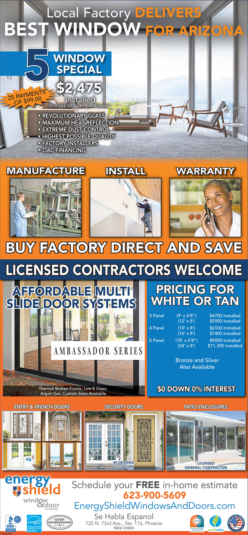 Energy Shield Windows and Doors Replacement Promotion number one
